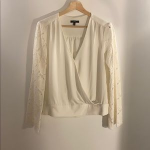 DREW Top with Lace Sleeves